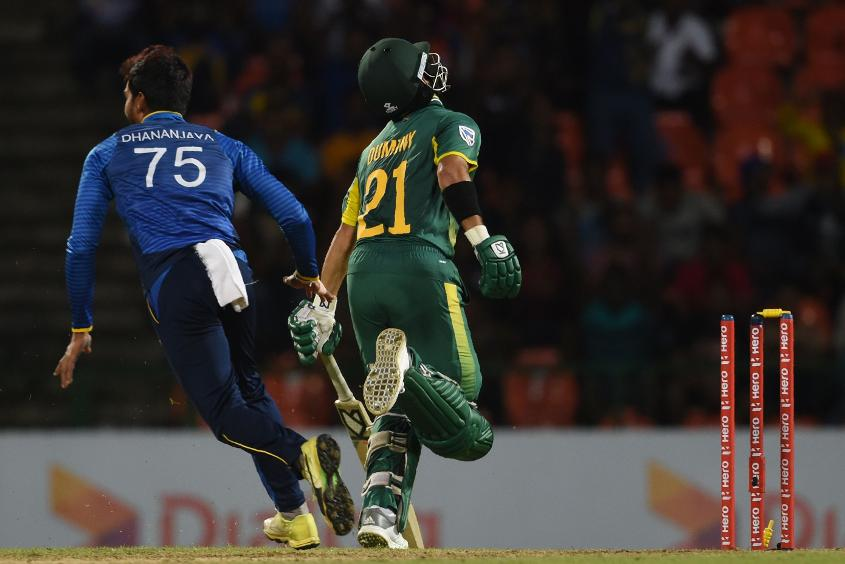 JP Duminy was run out at a crucial moment