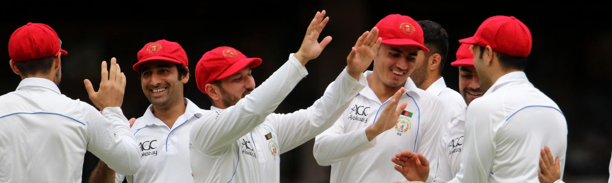Afghanistan picked up five wickets in the final session to end the first day on a high