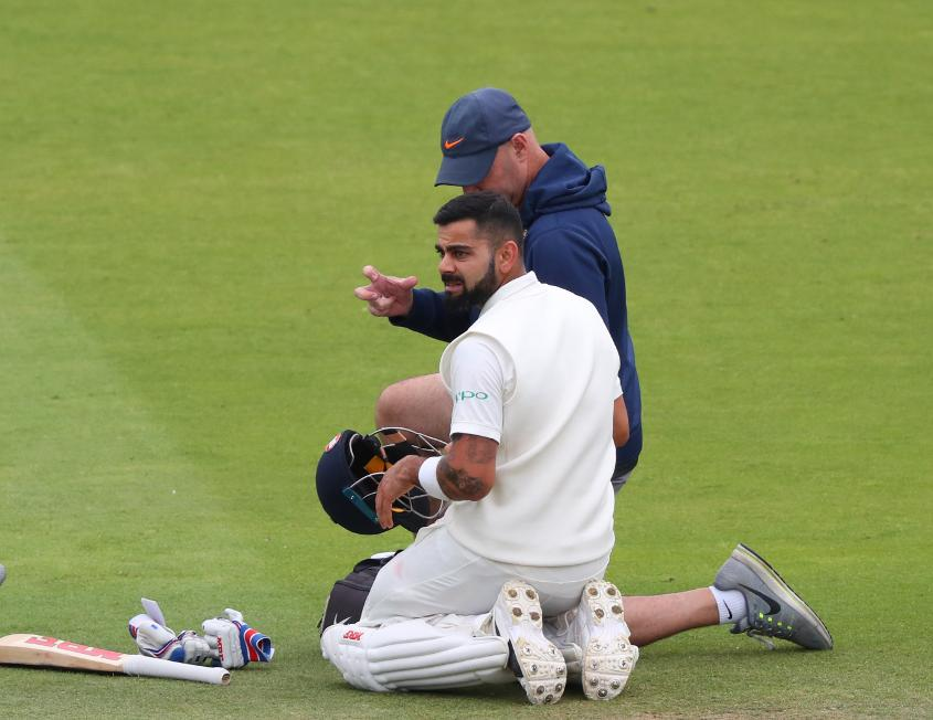 Kohli received treatment for his troublesome back