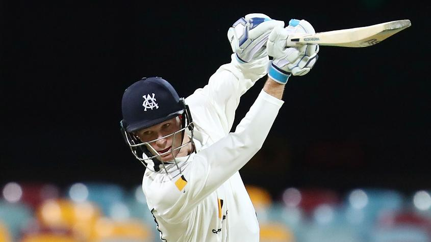 Handscomb's technique developed when playing for Victoria