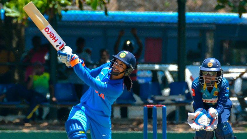 Smriti Mandhana slammed a quick half-century to finish off the chase in a hurry