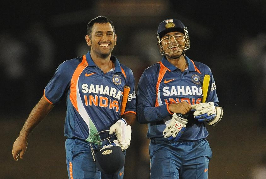 Dhoni and Sehwag were teammates as India won the World Cup in 2011