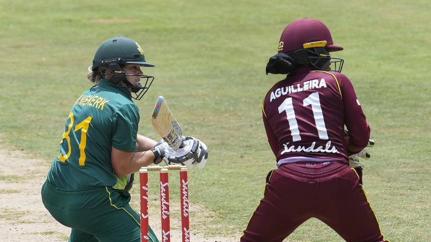 Dan van Niekerk led the South African batting charge with a 68-ball 53
