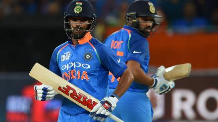 Rohit Sharma and Shikhar Dhawan put on 86 to hinder Pakistan's hopes of defending their score