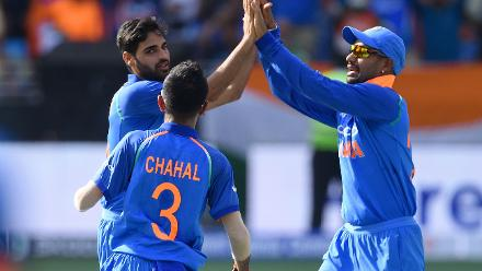 Bhuvneshwar Kumar returned 3/15 and was the pick among Indian bowlers