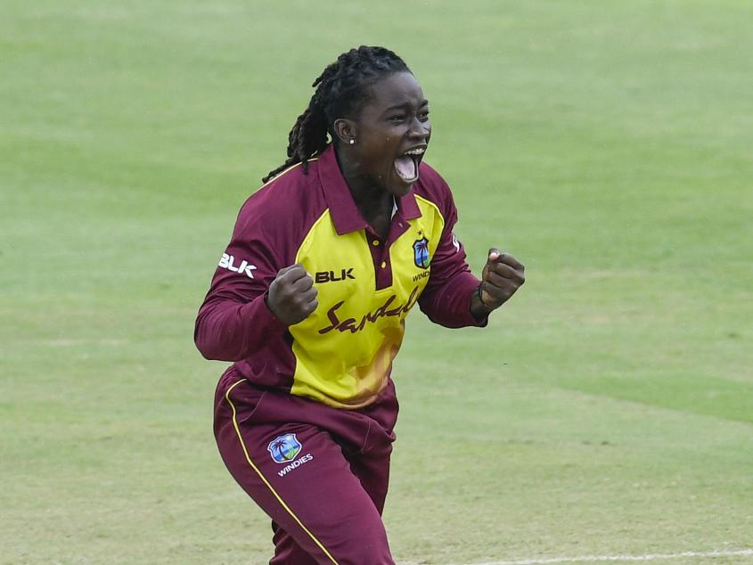 Deandra Dottin picked up three wickets in the second ODI