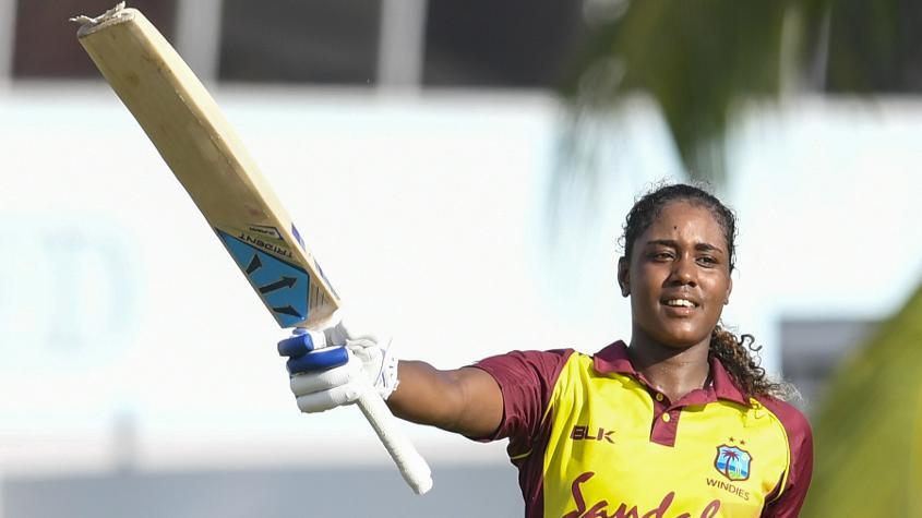 Hayley Matthews scored her second T20I century