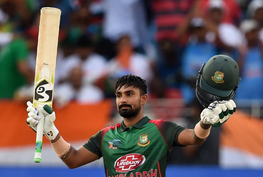 Liton Das celebrates his maiden international century
