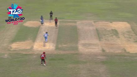 ICC World Twenty20 Asia Region Qualifier B:  Singapore's Manpreet Singh takes great diving catch against Malaysia