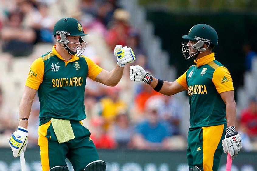 Duminy batting with David Miller at the 2015 ICC Cricket World Cup