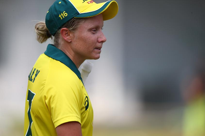Alyssa Healy fell agonisingly short of a second ODI century