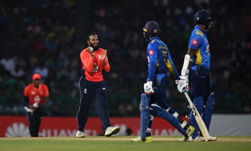 Adil Rashid took 3/12 against Sri Lanka