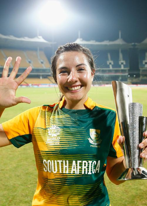 8 – Runs conceded by Sune Luus when she picked up five against Ireland