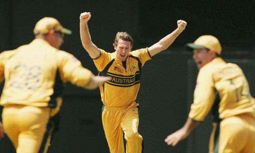 Glenn McGrath was Player of the Match in the 2007 semi-final