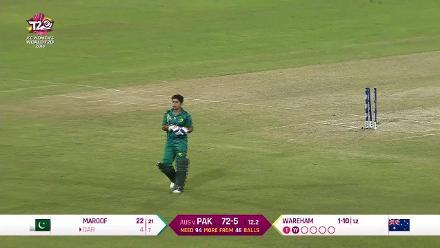 Aus v Pak: Pakistan innings highlights