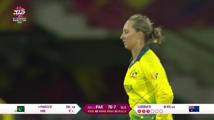 Aus v Pak: Bismah Maroof dismissed by Ash Gardner