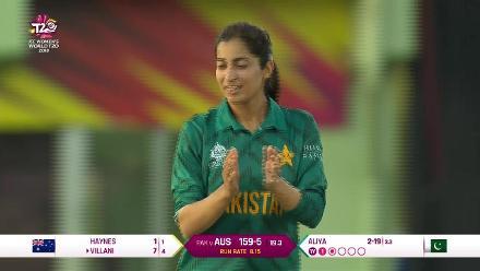 Aus v Pak: Elyse Villani is run out