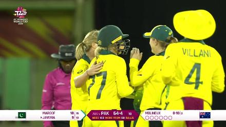 Aus v Pak: Javeria caught behind for 9