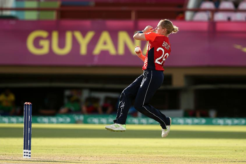 Brunt is No.28 on the MRF ICC T20 Rankings for bowlers
