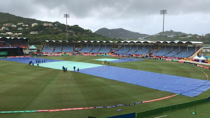 England's opening clash against Sri Lanka was washed out