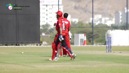 WCL3: Oman's Jay Odedra scalps Singapore's Manpreet Singh with a little help from Suraj Kumar behind the stumps