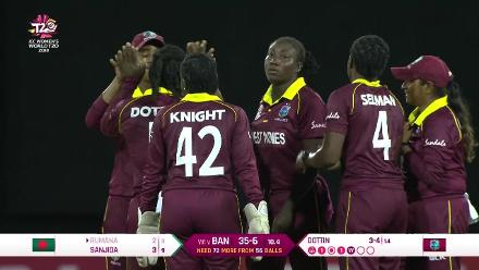 WT20 Match 3: Deandra Dottin cleans up Rumana Ahmed
