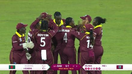 WT20 Match 3: Bangladesh lose their first wicket against the Windies