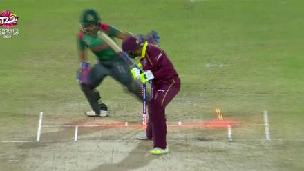 WT20 Match 3: Windies innings wickets against Bangladesh