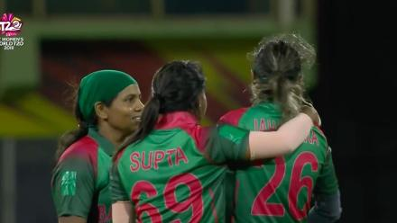 WT20 Match 3: Reflex catch from Bangladesh's Jahanara Alam against the Windies