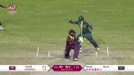 WT20 Match 3: Salma Khatun dismisses Shemaine Campbelle