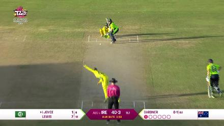 AUS v IRE: How the Ireland wickets fell