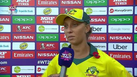 AUS v IRE: Ashleigh Gardner innings break interview