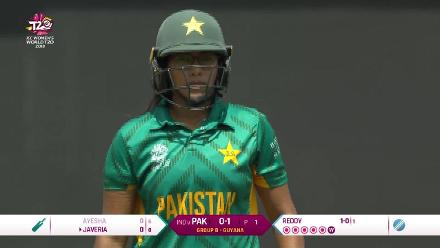 IND v PAK: Ayesha Zafar is sent back for 0 in the first over!