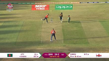 ENG v BAN: Nigar Sultana Joty run out after mix-up