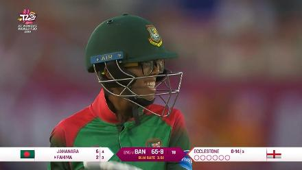 ENG v BAN: Fahima Khatun is run out