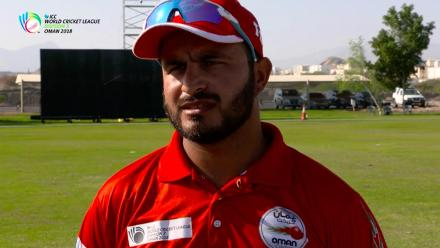 WCL Div 3 – Oman captain Zeeshan Macsood speaks before the game against Denmark