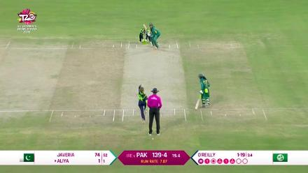 PAK v IRE: O'Reilly gets her second wicket, Aliya Riaz