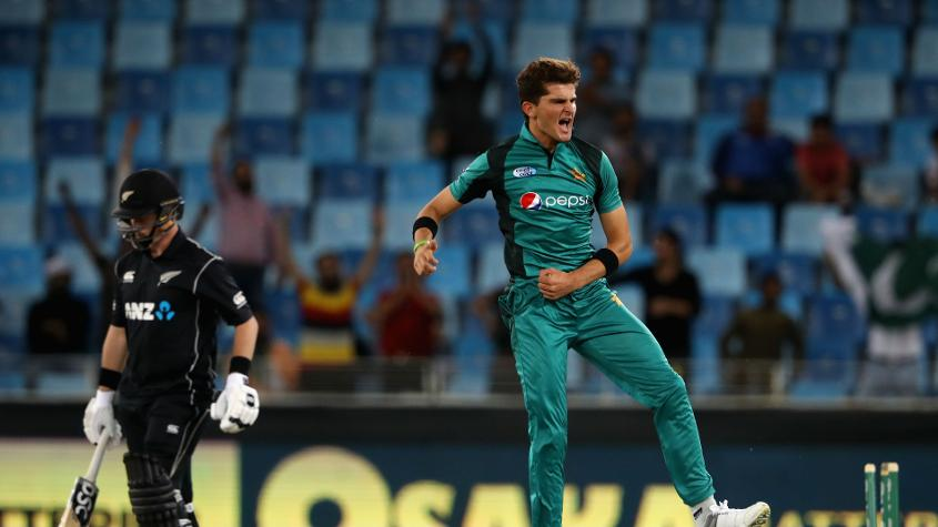 Shaheen Afridi, who took nine wickets in the series and won the player of the series award, has rocketed 66 places