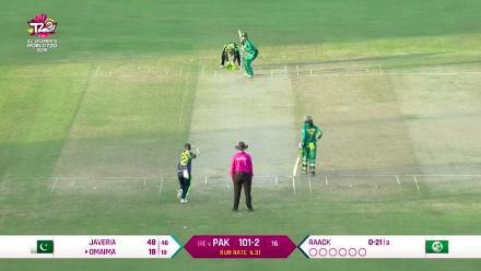 PAK v IRE: Raack claims her maiden wicket for Ireland, dismissing Omaima Sohail