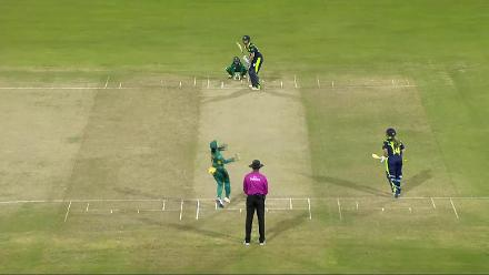 PAK v IRE: Garth is bowled by Maroof for 8