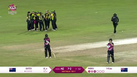 AUS v NZ: Ellyse Perry strikes on her third ball, bowling Devine