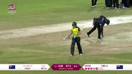 AUS v NZ: Devine gets Lanning caught behind for five
