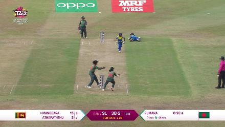 SL v BAN: Mix-up sees Dilani Manodara run out