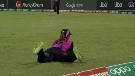 AUS v NZ: Bates' juggle catch to dismiss Gardner