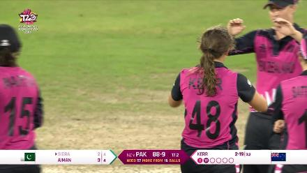 NZ v PAK: Highlights of Amelia Kerr's 3/21