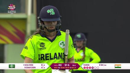 IND v IRE: Eimear Richardson run out