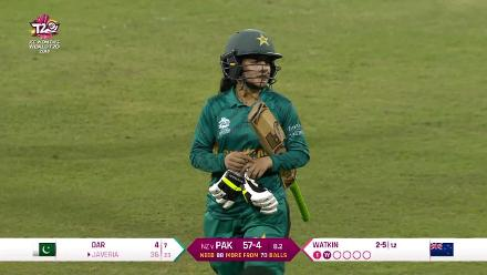 NZ v PAK: Javeria Khan nicks behind to walk back for 36