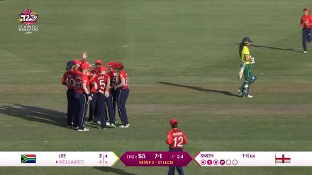 ENG v SA: Laura Wolvaardt edges behind off Linsey Smith