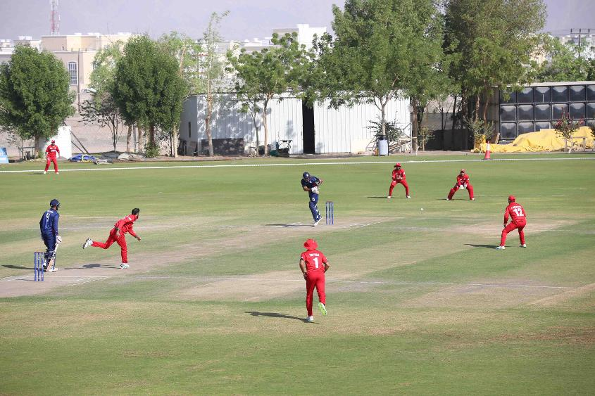 Oman v USA, 11th Match, ICC World Cricket League Division Three at Al Amarat, Nov 16 2018