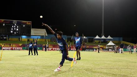 Sri Lanka warm up during the ICC Women's World T20 2018 match between West Indies and Sri Lanka at Darren Sammy Cricket Ground on November 16, 2018 in Gros Islet, Saint Lucia.